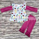 BY-G216 China supplier wholesale baby clothing girls wear summer child clothes in girls' clothing set