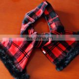 wholesale grid cashmere lady scarf--100% cashmere scarf