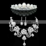 New Come Wedding Accessories jewelry sets Crown Earring and Necklace