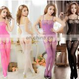 new style sexy lingerie the whole body gridding jacquard condole belt silk stockings conjoined