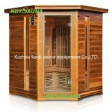 Health mate solid wood dry steam corner far infrared sauna room