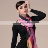 handpainted colorful cashmere scarf