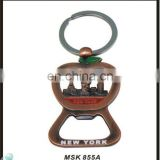 Unique Promotional New York Custom Metal Bottle Opener Key ring