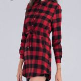 Long Sleeve Plaid Long Ladies' Shirt