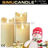 Christmas Decorative Resin Material and Flameless Feature LED Candle, with USA and EU Patent