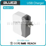 5V 4.8A 4 ports USB High Speed Wall Charger With CE RoHS Approval