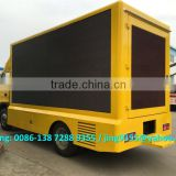 Mobile 4x2 outdoor led display advertising truck sale in Brazil, outdoor  led advertising screen price