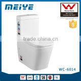 Two-Piece Washdown Watermark Toilet Factory S/P Trap with Geberit or R&T Flush Valve Soft Closing Cover, Australian WELS WC-6014                                                                         Quality Choice