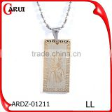 Factory Wholesale Charm Stainless Steel Pendant Jesus Tag Pendant