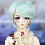 Miss U Hair Synthetic Natural Hair Short Straight Bob Cosplay Party Wig BJD Doll Wig Hair B001