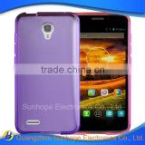 Hot selling glossy transparent cell phone case cover for Alcatel One Touch Conquest OT-7046