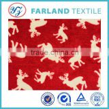 giraffe print fabric Coral fleece fabric double sided for bed blanket