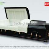 DOMINION mahogany funeral casket burial biers                                                                                                         Supplier's Choice
