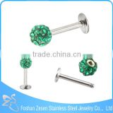 Crystal Ball Lip Piercing Body Jewelry Piercing Labret Studs