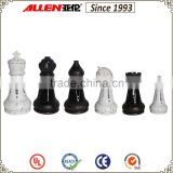 "14"" black and white chess set, poly resin chess set, giant chess pieces"