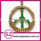 Wholesale nice peace sign necklace pendant connector