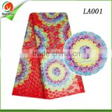 new arrival women dresses textile fabric wax print lace design for african ankara lace fabric