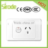 Modern Home Houshold Electrical Clipsal SAA Approved Single Power Point with Switch 250V 10A