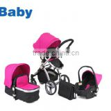 3 In 1 baby stroller/pram set,2016 Multi-function wholesale baby stroller pram