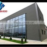 Exterior building glass walls prefabricated sheds steel hall