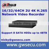 NVR5816-16P-4KS2 Original Dahua NVR 16ch POE 4K H.265 nvr p2p mobile view cloud monitoring nvr