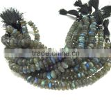 AAA Labradorite faceted Rondelle Beads Full blue Flash 6-12 mm 8 inches full Strand For making any kind of beautiful jewellery