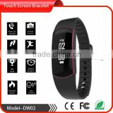 touch screen fitness tracker led bluetooth bracelets vibrates health tracker IP67 waterproof