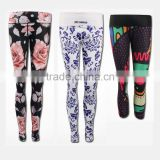 Custom sublimation seamless yoga pants/girls sexy yoga pants