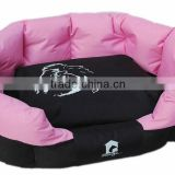 High quality waterproof 600D oxford fabric dog bed / oval shape pet sleeping nest pink color