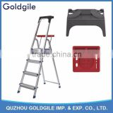 Goldgile Aluminium ladder with Tools tray                                                                                                         Supplier's Choice