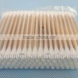 Sterile wooden sticks cotton ear buds,cotton swabs in pp bag