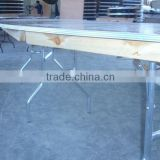 wood wedding bar height folding table