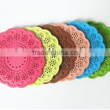 Retro Hollow Design Anti-heated Round PVC+silicone Tablewear Placemats