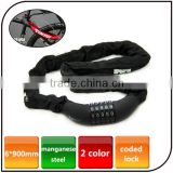 Combination Bicycle chain bike lock for motorcycle Steel Lock Chain Cable anti-theft bicycle lock with password