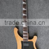 Weifang Rebon 4 string riken neck through body electric bass guitar with mahogany body