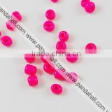 6/0 Glass Seed Beads, Opaque Colours, 4~5mm in diameter, about 4500pcs/bag(SEED-S003-K24)