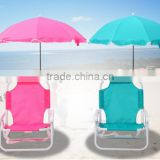 Cheap price high quality Comfortable Fodable camping portable popular leisure Kids Folding beach chair with umbrella
