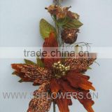 "Christmas iterm,Christmas decotative flower , 15"" Artifical Flower Poinsettia Spray"
