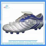 Cheap silver football shoes men cricket spikes shoes soccer shoes for wholesale