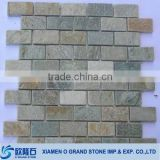 natural strip golden brown stone wall tile marble mosaic                                                                         Quality Choice
