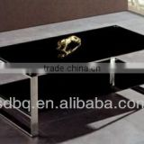 Foshan factory price modern office table design/tempered glass coffee table/glass tea desk PT-T002