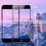 2.5d round edge bubble free full body wholesale tempered glass screen protector for iphone 6