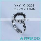 Wholesale 925 sterling silver ring Thai silver infinity ring base DIY blank findings old jewelry accessory