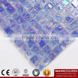IMARK Iridescent Blue Square Glass Recycle Glass Mosaic Swimming Pool Tiles