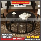 2016 good prices china famous brand wood round coffee table