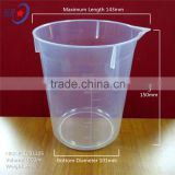 1000ml High Transparency Plastic Beaker, disposable plastic measuring cup, pp beaker