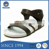 Guangzhou Sandals Supplier Wearing Genuine Leather Girls Rope Sandals