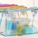 yiwu New products newest design transparent pp pvc cosmetic bag with zipper manufacture and supplier made in china