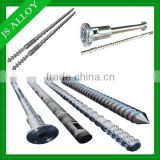 Supply high production single screw and barrel/ screw and cylinder for profile extrusion line