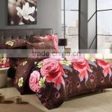 Nantong luxury baby bedding /bed sheet beautiful cotton print 3d or 5d bedding set christmas
